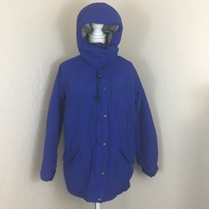 Vintage ll bean penobscot parka jacket large blue